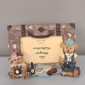 Vintage Teddy Bear Picture frame 3.5 x 5